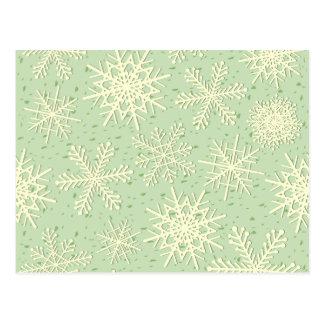 Flocos de neve, cartão cartão postal