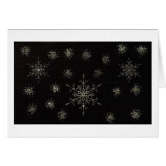 Flocos de neve cartão comemorativo