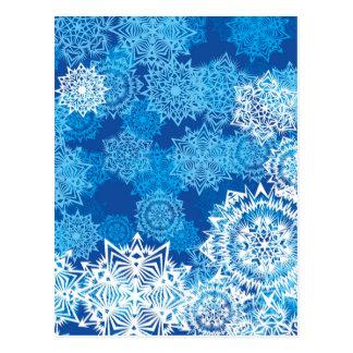 Flocos de neve cartões postais