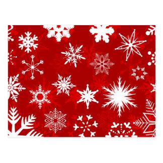 Flocos de neve cartoes postais
