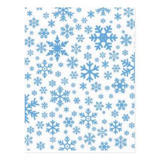 Flocos de neve cartão postal