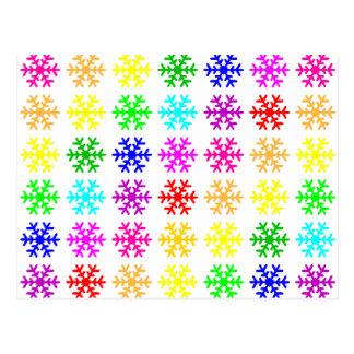 Flocos de neve coloridos cartão postal