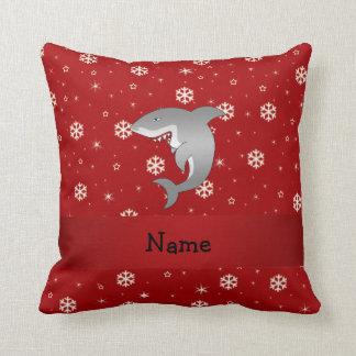Flocos de neve conhecidos personalizados do vermel travesseiro