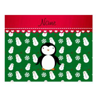 Flocos de neve conhecidos personalizados dos cartão postal