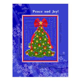 Flocos de neve da árvore do Xmas dos poemas Cartão Postal