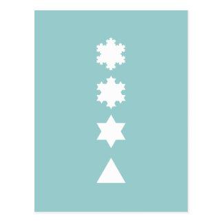 Flocos de neve de Koch Cartão Postal