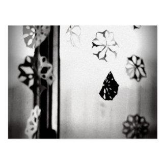 Flocos de neve de papel cartão postal