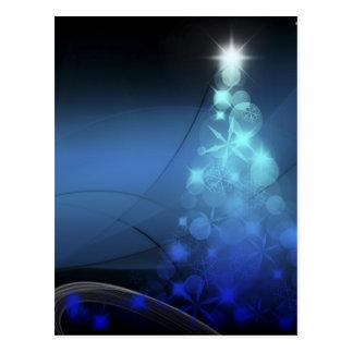 Flocos de neve do feriado do Natal azuis Cartão Postal
