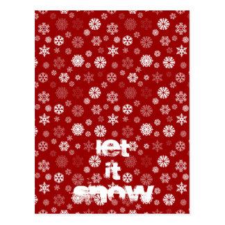 Flocos de neve do inverno cartão postal