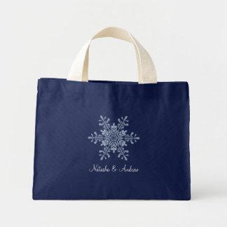 Flocos de neve do inverno que Wedding a sacola da  Bolsas Para Compras
