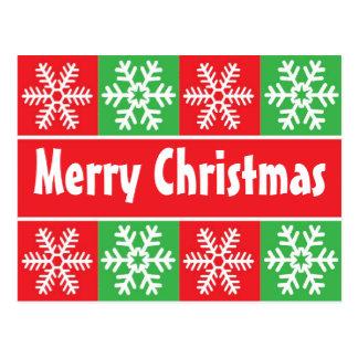 Flocos de neve do Natal Cartão Postal
