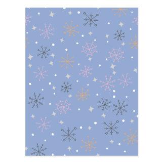 Flocos de neve dos doces cartão postal