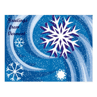 Flocos de neve no vento - cartão postal