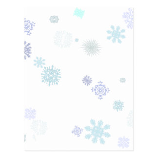 Flocos de neve pálidos cartão postal