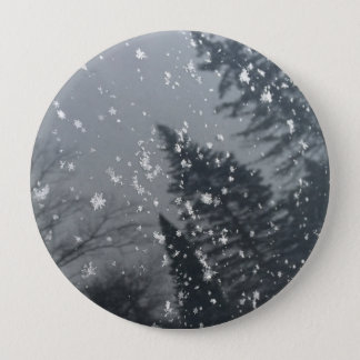 Flocos de neve que caem em árvores bóton redondo 10.16cm