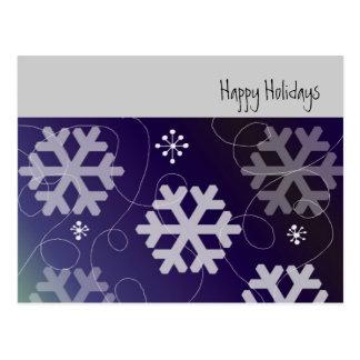 Flocos de neve roxos bonito cartão postal