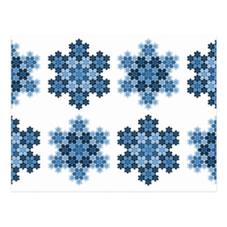Flocos de neve Tessellated de Koch Cartão Postal