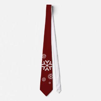 Flocos de neve, vermelho carmesim, laço dos gravata