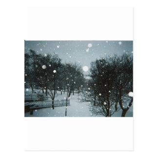 Flocos do inverno cartão postal
