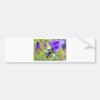 Flor & abelha adesivo para carro