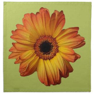 Flor alaranjada ensolarada da flor do gerbera guardanapos impresso
