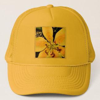 Flor amarela boné