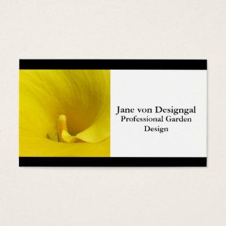 Flor amarela do lírio de Calla Cartão De Visitas
