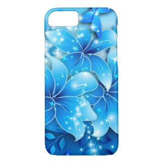 flor azul capa iPhone 7
