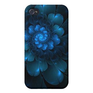 Flor azul capa iPhone 4