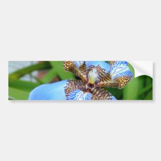 Flor azul tigrada adesivo