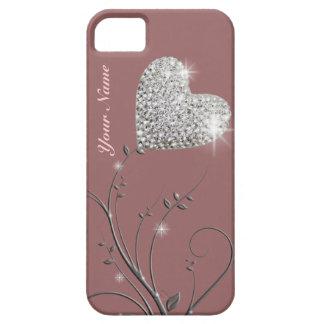 flor bonito da jóia do coração capas para iPhone 5