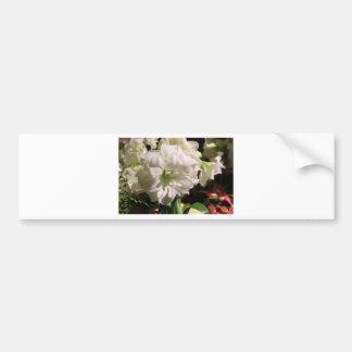 Flor branca adesivo para carro