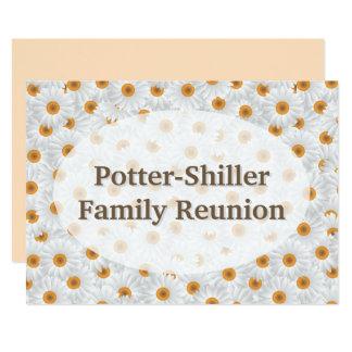 Flor branca personalizada/Sepia da camomila Convite 12.7 X 17.78cm