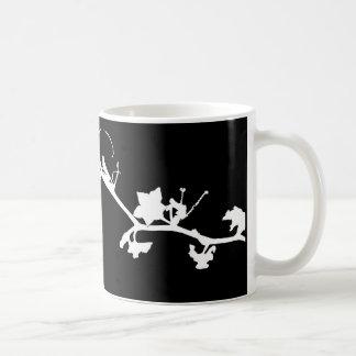 flor caneca de café