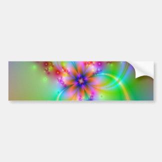 Flor colorida com fitas adesivo para carro