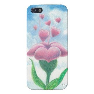 Flor com corações capa iPhone 5