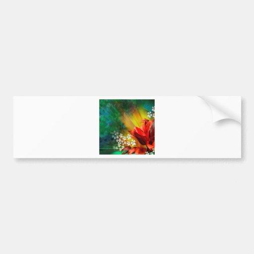 Flor completa da flor abstrata adesivo