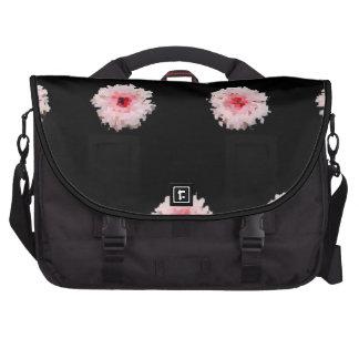 Flor cor-de-rosa - saco do laptop da viagem ao tra bolsa para notebook