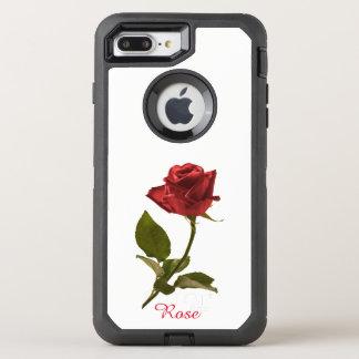Flor cortada da rosa vermelha fotografia floral capa para iPhone 7 plus OtterBox defender