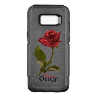 Flor cortada da rosa vermelha imagem floral capa OtterBox commuter para samsung galaxy s8+