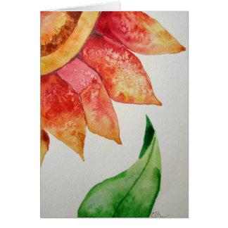 Flor da aguarela cartão comemorativo