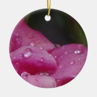 Flor da gota da chuva ornamento de cerâmica redondo
