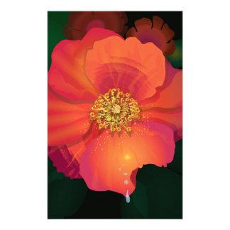 Flor da gota do rasgo papelaria