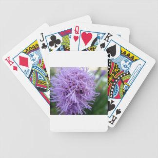 Flor da violeta da aranha do tentáculo cartas de baralhos