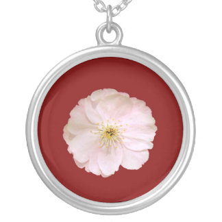 Flor de cerejeira 02 colar banhado a prata