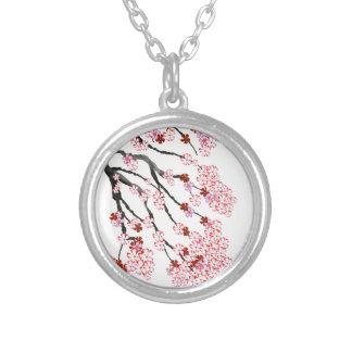Flor de cerejeira 18 Tony Fernandes Colar Banhado A Prata