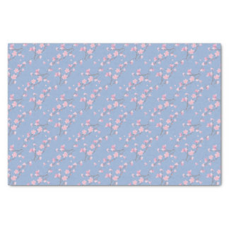 Flor de cerejeira - azul da serenidade papel de seda