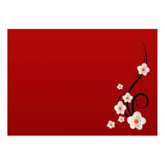 """Flor de cerejeira carnudo, 3,5"""" x 2,5"""", 100 blocos modelo cartões de visitas"""