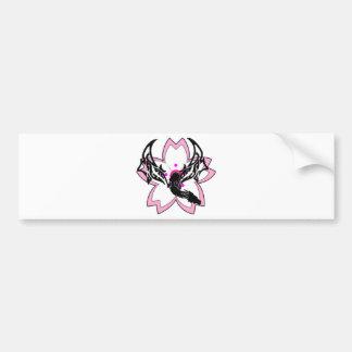 Flor de cerejeira da flor do dragão adesivo para carro