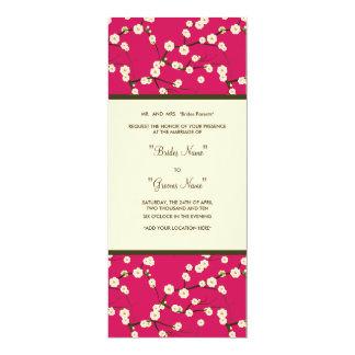 Flor de cerejeira do rosa do convite do casamento
